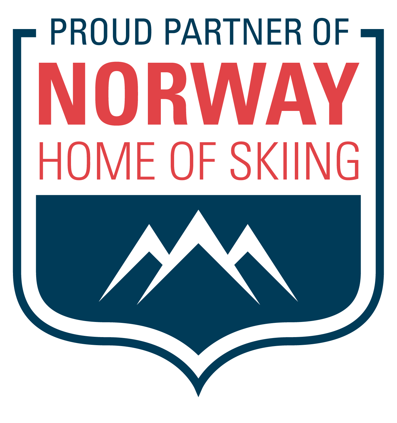 Logo norway home of skiing